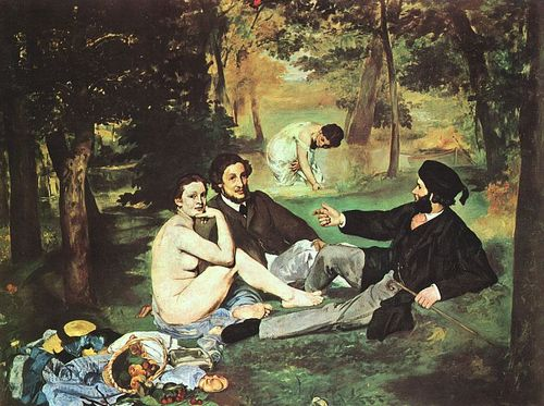 Fine Art wallpaper titled Dejeuner sur l'Herbe - Manet