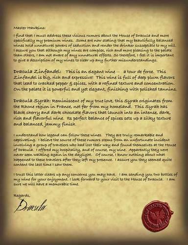 Dracula Letter