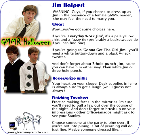 Dress like Jim for Halloween
