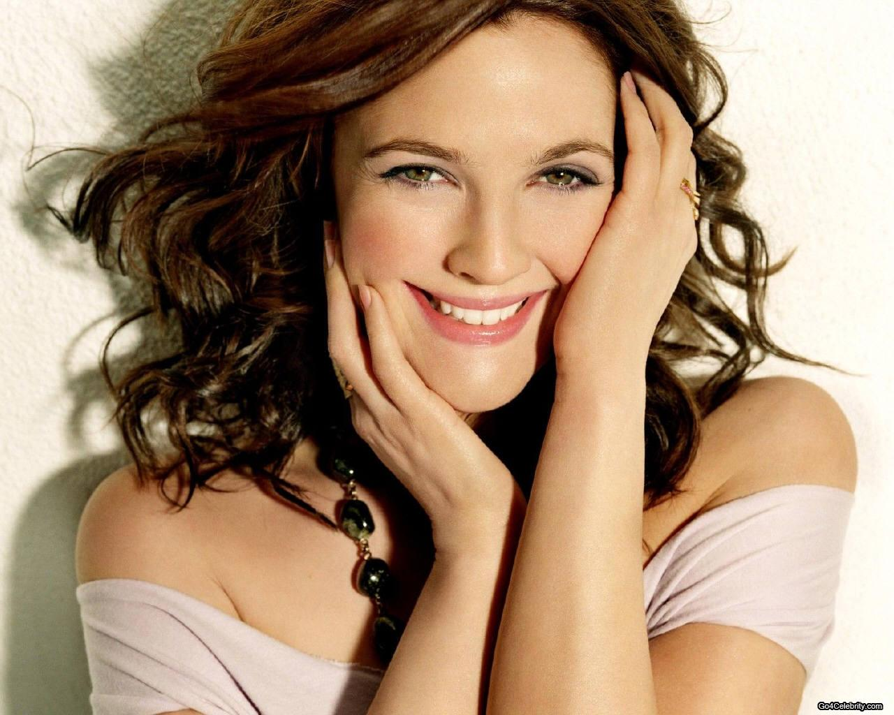 randomly told middle class looked dark haired drew barrymore smile