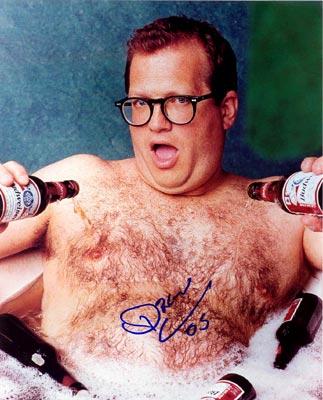 Drew Bathes in bia