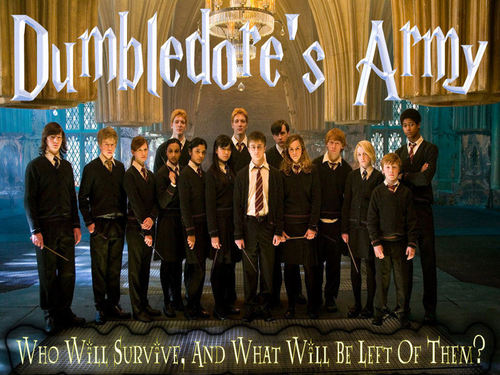 Dumbledore's Army wallpaper titled Dumbledore's Army