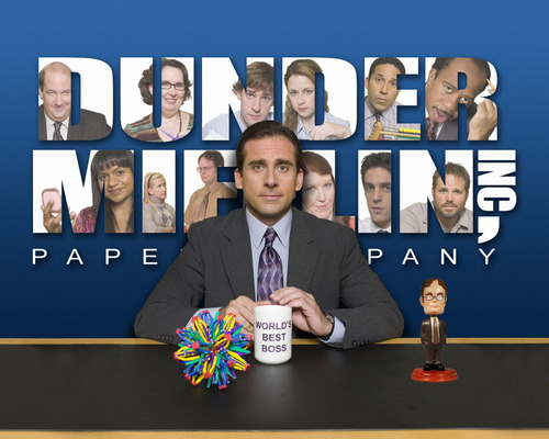 Dunder-Mifflin Logo Cast - the-office Photo