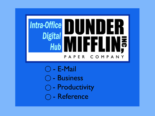The Office achtergrond titled Dunder Mifflin Logo