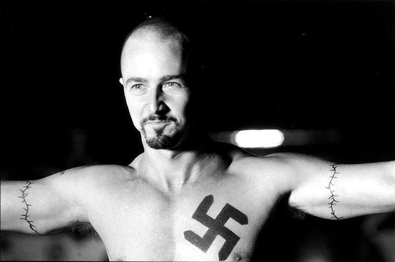 Edward norton black flag tattoo