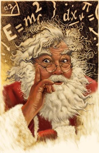 Einstein Santa