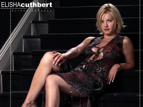 Elisha Cuthbert پیپر وال called Elisha on stairs