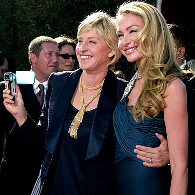 Ellen and Portia @ Emmy's