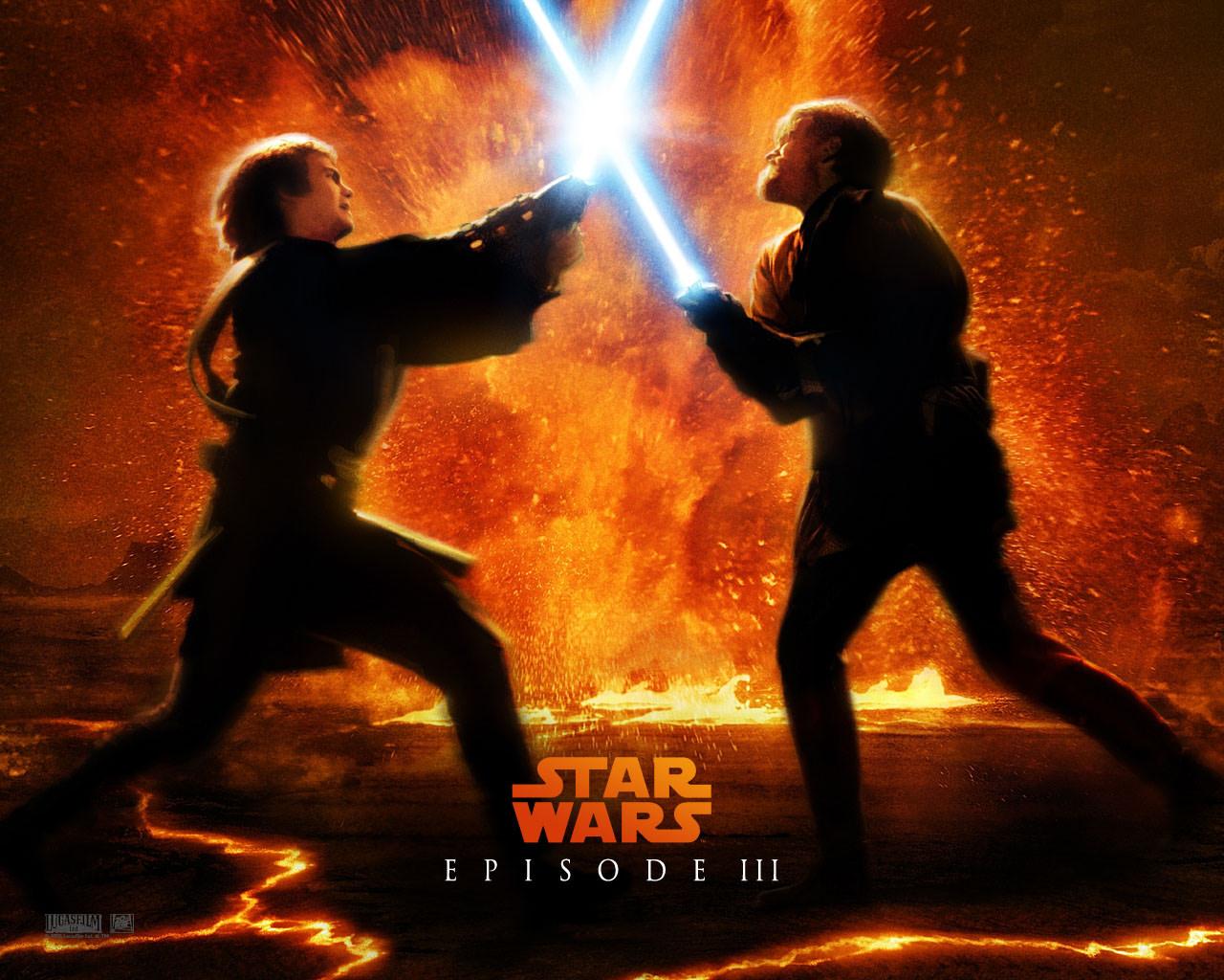 Star wars anakin obi-wan duel