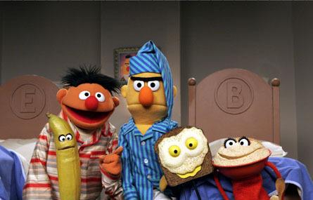 Sesame Street wallpaper titled Ernie & Bert