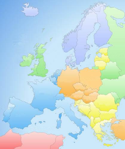 Europa colour map