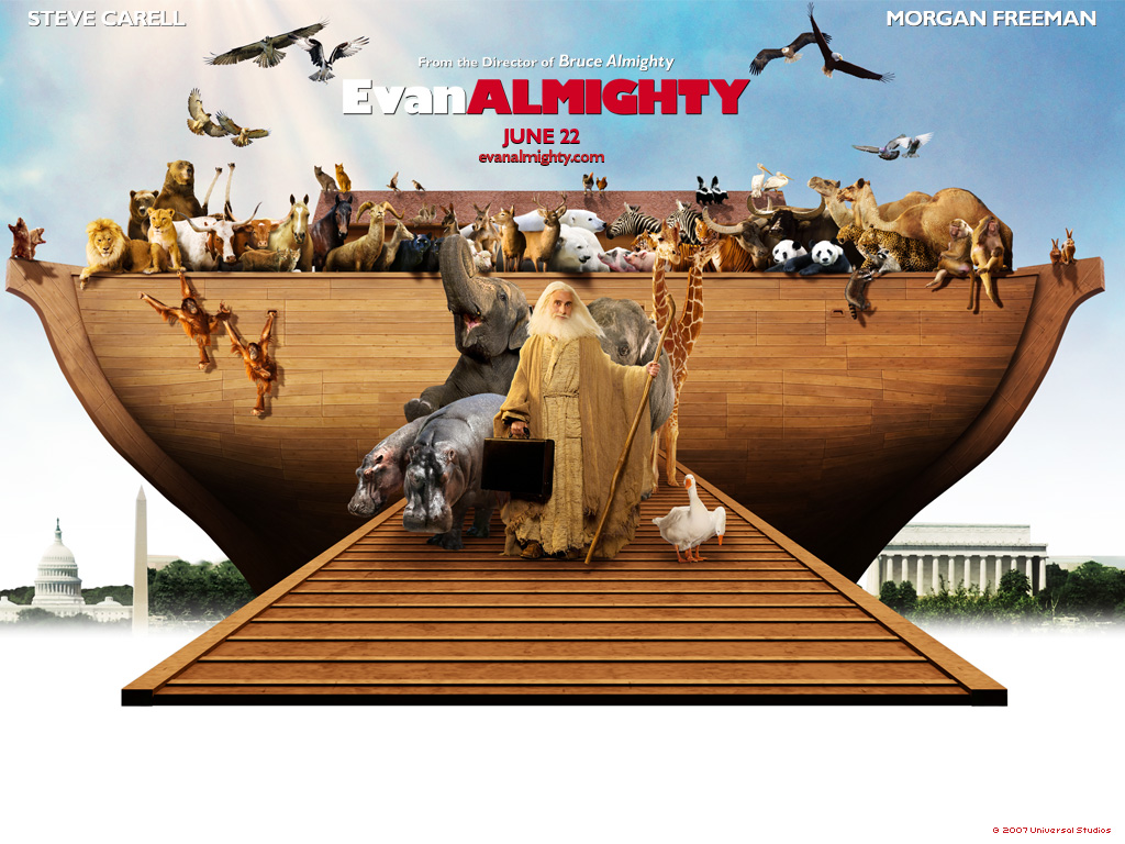 evan almighty Steve carell and morgan freeman star in this comedy that's a great time for everyone when god instructs him to build an ark, evan's life goes from overnight.