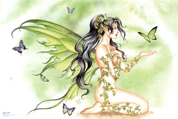 Green Vines - fairies Photo