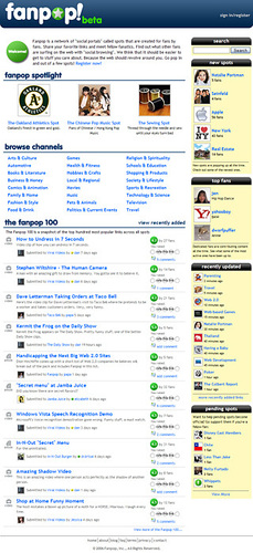Fanpop Homepage Aug.15, 2006