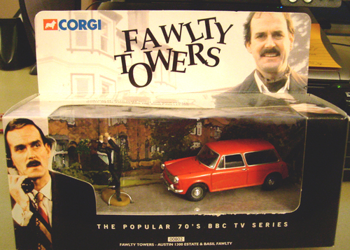Fawlty Towers Basil and Car