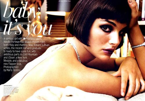 Vogue wallpaper called February 2004: Natalie Portman
