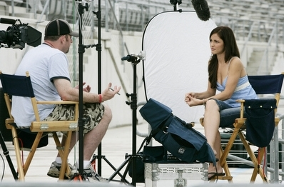 Minka Kelly wallpaper called Filming