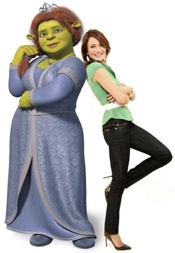 Shrek achtergrond called Fiona and Cameron Diaz