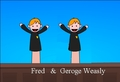 Fred and George Weasly - potter-puppet-pals photo