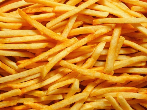 French Fries Hintergrund