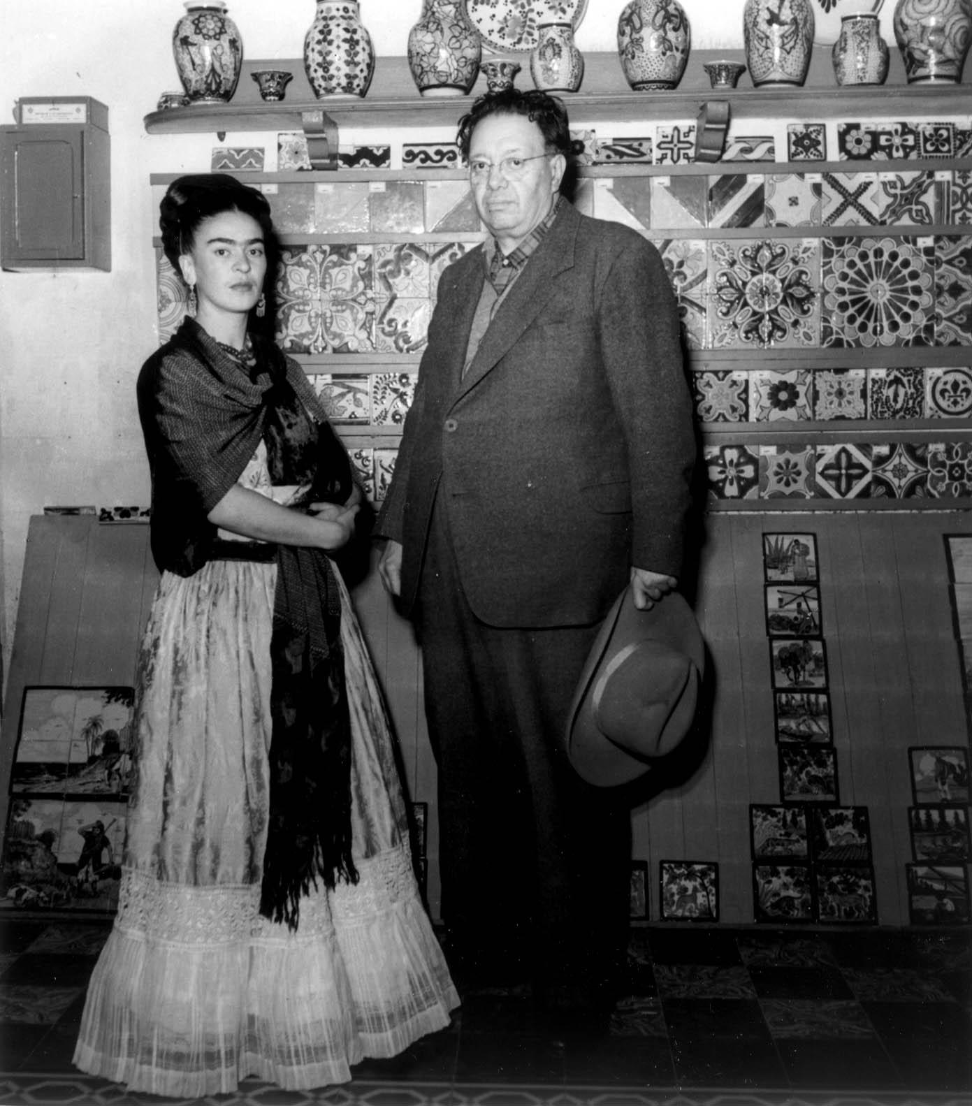 Frida Kahlo and her husband