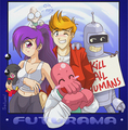 Futurama anime - futurama fan art