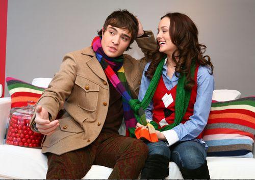 Blair And Chuck Elle Photoshoot