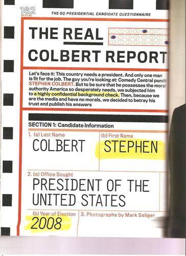 Stephen Colbert wallpaper entitled GQ Scans