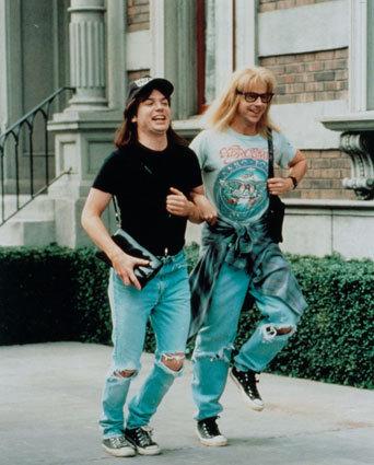Garth and Wayne Skipping