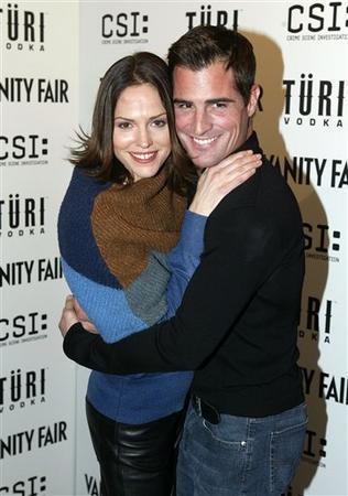 George and Jorja hugging