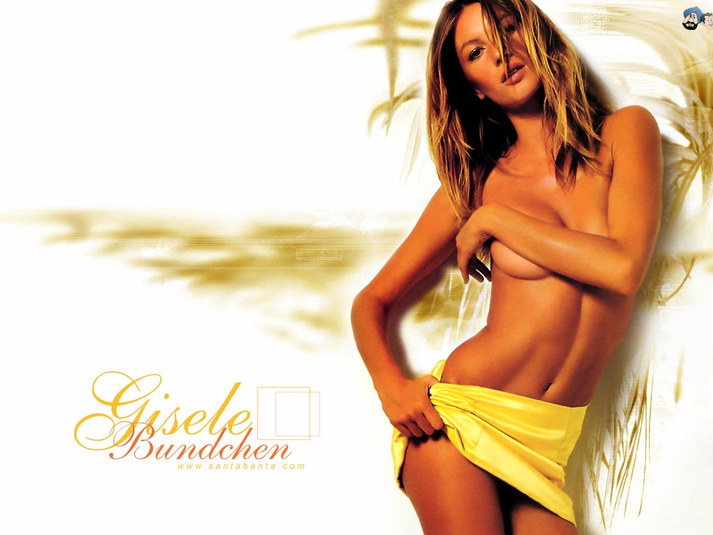 Gisele bundchen yellow bikini could