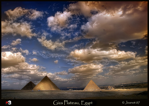 Egypt achtergrond called Giza Plateau