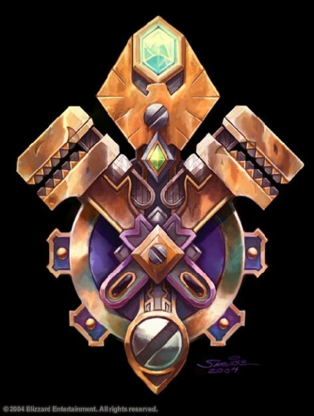warcraft historia do mundo Gnome-Crest-world-of-warcraft-510264_453_599