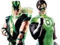 Green Arrow and Hal Jorden