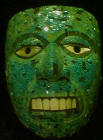 Green Aztec mask