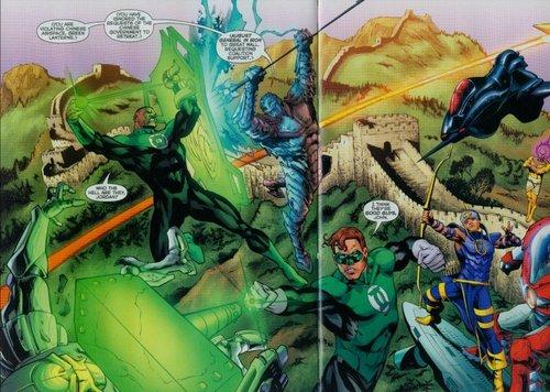 Green Lantern splash page