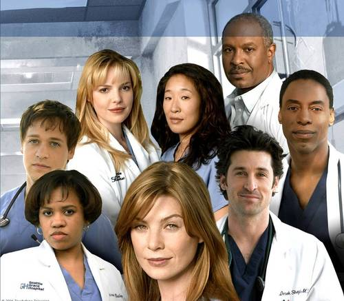 Grey's Anatomy پیپر وال titled Grey's Cast