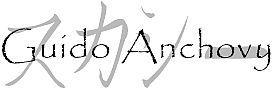 Guido Anchovy Name design