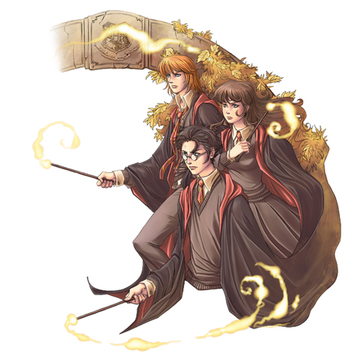 Harry Potter fond d'écran titled HP fan Art - The Trio