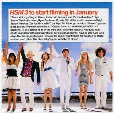 HSM3 Filming Info