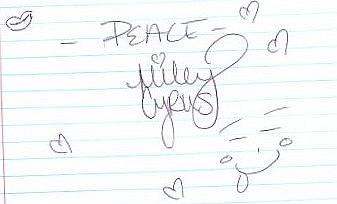Hannah Montana Autograph