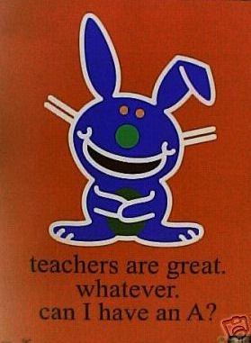 Happy Bunny Teacher Negetive