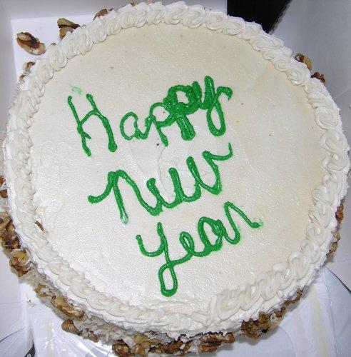 Happy New año Cake
