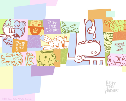 Happy درخت دوستوں