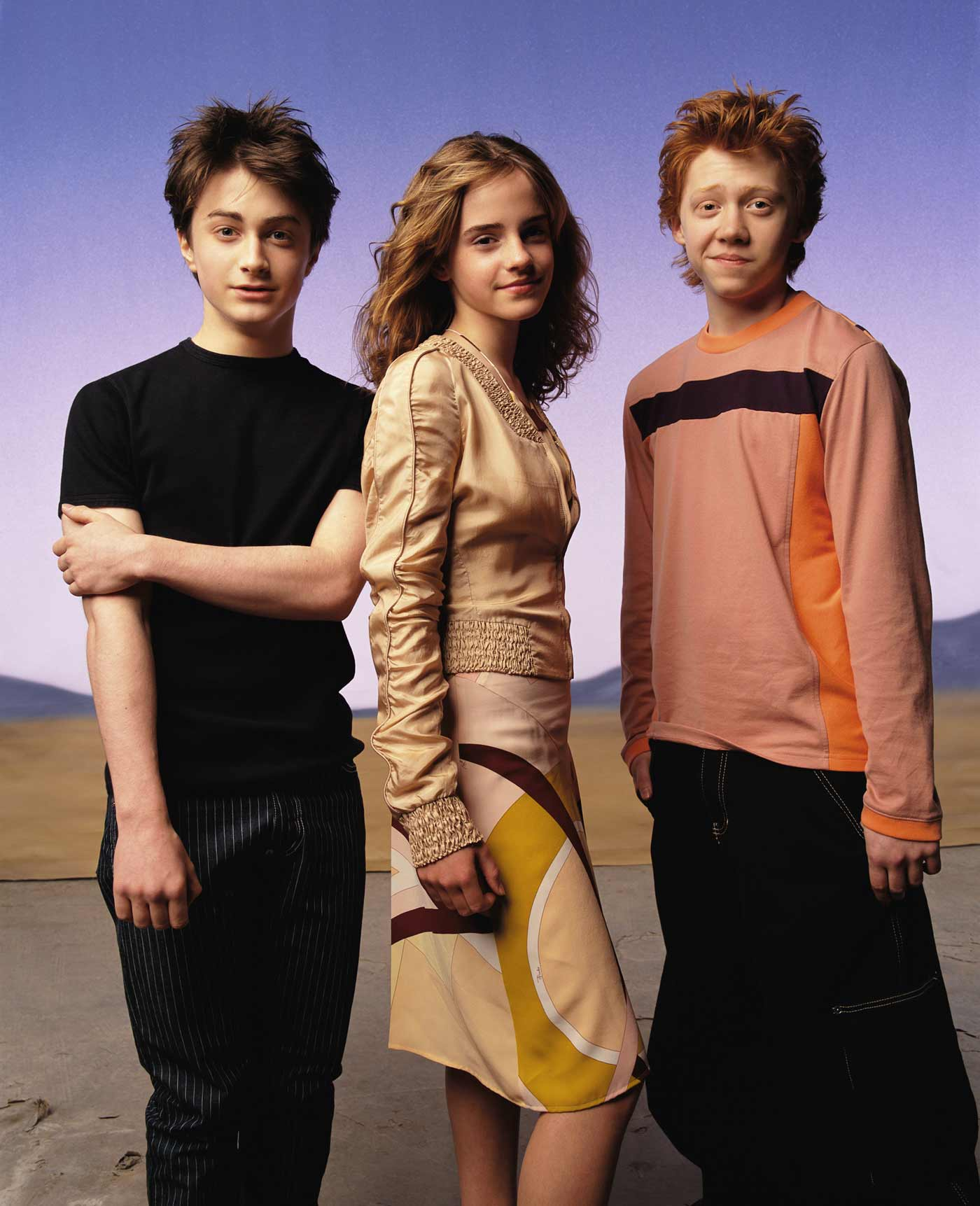 fotos de harry ron y hermione: