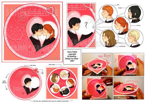 Harry Potter Love Pinwheel