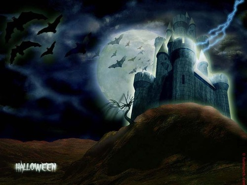 Halloween wallpaper titled Haunted House