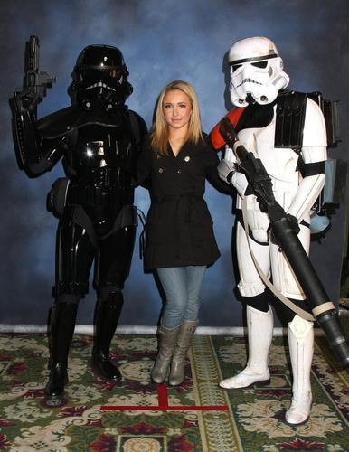 Hayden with Storm Troopers