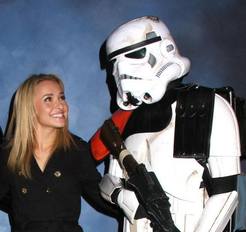 Hayden with Storm Troopers