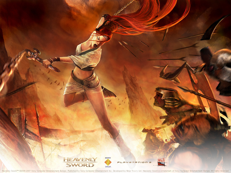 sword wallpaper. Heavenly Sword wallpaper